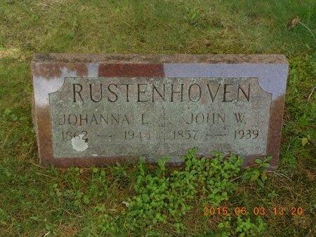 RUSTENHOVEN, JOHANNA L. - Marquette County, Michigan | JOHANNA L. RUSTENHOVEN - Michigan Gravestone Photos