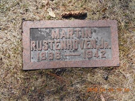 RUSTENHOVEN, JR., MARTIN B. - Marquette County, Michigan | MARTIN B. RUSTENHOVEN, JR. - Michigan Gravestone Photos