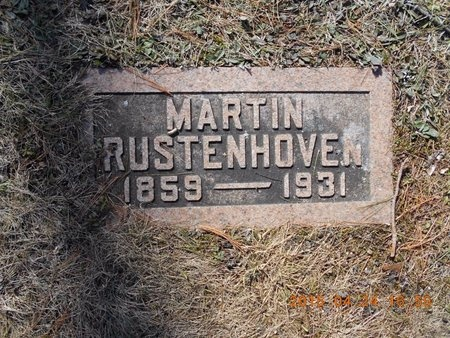RUSTENHOVEN, MARTIN - Marquette County, Michigan | MARTIN RUSTENHOVEN - Michigan Gravestone Photos