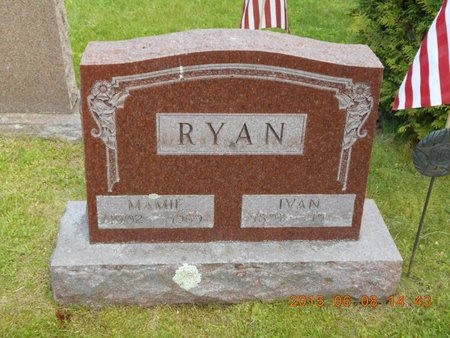 RYAN, IVAN - Marquette County, Michigan | IVAN RYAN - Michigan Gravestone Photos