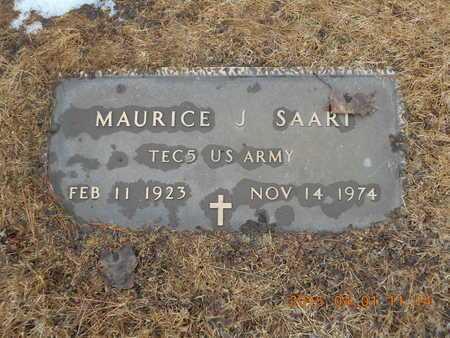 SAART, MAURICE J. - Marquette County, Michigan | MAURICE J. SAART - Michigan Gravestone Photos