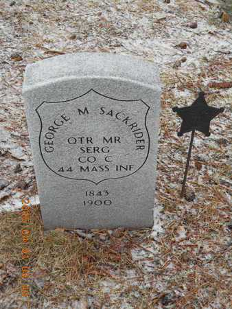 SACKRIDER, GEORGE M. - Marquette County, Michigan   GEORGE M. SACKRIDER - Michigan Gravestone Photos