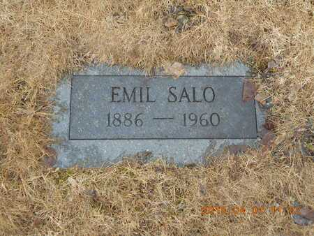 SALO, EMIL - Marquette County, Michigan   EMIL SALO - Michigan Gravestone Photos