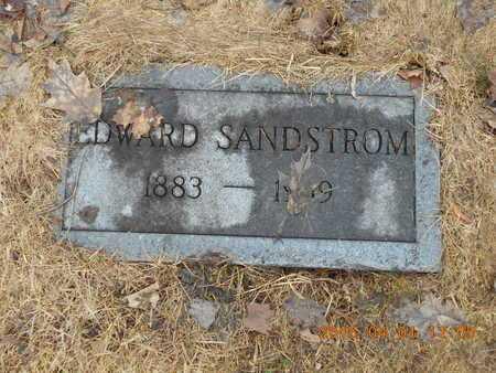 SANDSTROM, EDWARD - Marquette County, Michigan   EDWARD SANDSTROM - Michigan Gravestone Photos