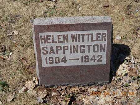 SAPPINGTON, HELEN - Marquette County, Michigan   HELEN SAPPINGTON - Michigan Gravestone Photos