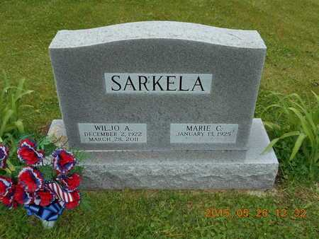 SARKELA, WILJO A. - Marquette County, Michigan | WILJO A. SARKELA - Michigan Gravestone Photos
