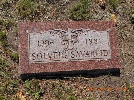 SAVAREID, SOLVEIG - Marquette County, Michigan | SOLVEIG SAVAREID - Michigan Gravestone Photos