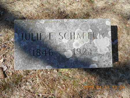 SCHAFFER, JULIE E. - Marquette County, Michigan | JULIE E. SCHAFFER - Michigan Gravestone Photos