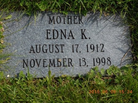 SCHILLINGER, EDNA K. - Marquette County, Michigan | EDNA K. SCHILLINGER - Michigan Gravestone Photos