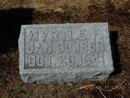 SCHRANDT, MYRTLE F. - Marquette County, Michigan | MYRTLE F. SCHRANDT - Michigan Gravestone Photos
