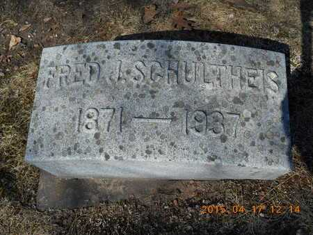 SCHULTHEIS, FRED J. - Marquette County, Michigan | FRED J. SCHULTHEIS - Michigan Gravestone Photos