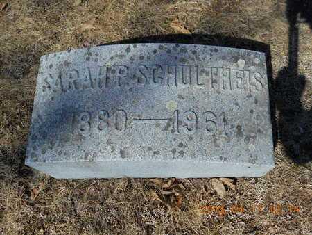 SCHULTHEIS, SARAH - Marquette County, Michigan   SARAH SCHULTHEIS - Michigan Gravestone Photos