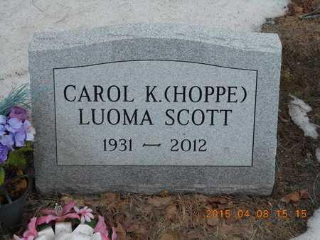SCOTT, CAROL K. - Marquette County, Michigan | CAROL K. SCOTT - Michigan Gravestone Photos