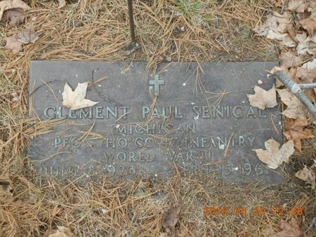 SENICAL, CLEMENT PAUL - Marquette County, Michigan | CLEMENT PAUL SENICAL - Michigan Gravestone Photos