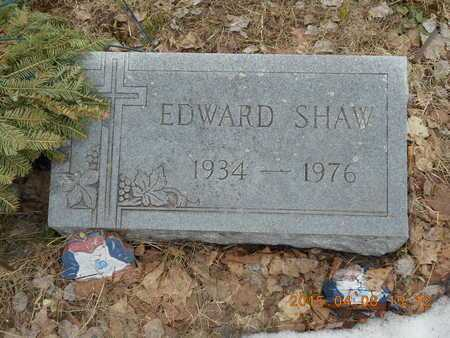 SHAW, EDWARD - Marquette County, Michigan | EDWARD SHAW - Michigan Gravestone Photos