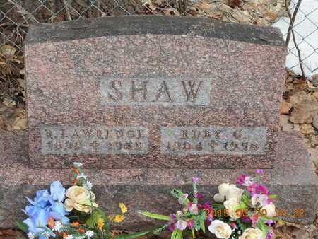 SHAW, R. LAWRENCE - Marquette County, Michigan | R. LAWRENCE SHAW - Michigan Gravestone Photos