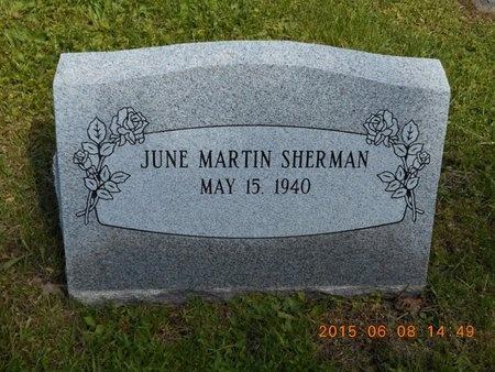 MARTIN SHERMAN, JUNE - Marquette County, Michigan | JUNE MARTIN SHERMAN - Michigan Gravestone Photos
