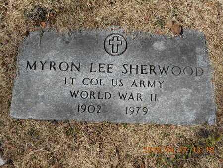 SHERWOOD, MYRON LEE - Marquette County, Michigan   MYRON LEE SHERWOOD - Michigan Gravestone Photos
