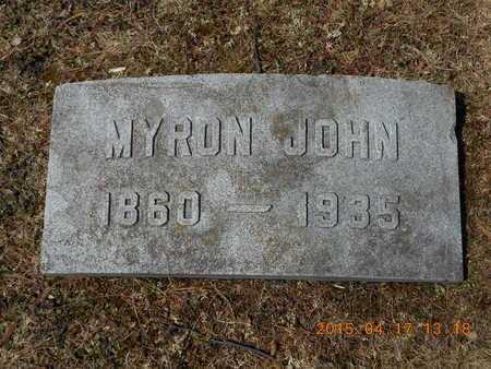 SHERWOOD, MYRON JOHN - Marquette County, Michigan   MYRON JOHN SHERWOOD - Michigan Gravestone Photos
