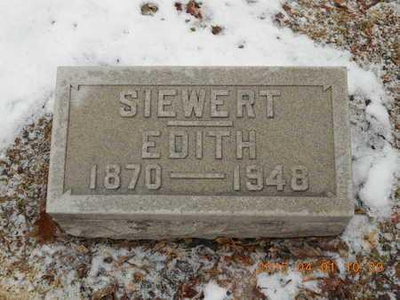 SIEWERT, EDITH - Marquette County, Michigan | EDITH SIEWERT - Michigan Gravestone Photos
