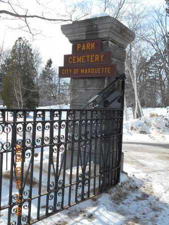 SIGN, CEMETERY - Marquette County, Michigan   CEMETERY SIGN - Michigan Gravestone Photos