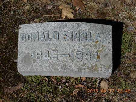 SINCLAIR, DONALD - Marquette County, Michigan   DONALD SINCLAIR - Michigan Gravestone Photos
