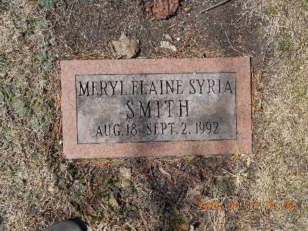 SMITH, MERYL ELAINE SYRIA - Marquette County, Michigan | MERYL ELAINE SYRIA SMITH - Michigan Gravestone Photos