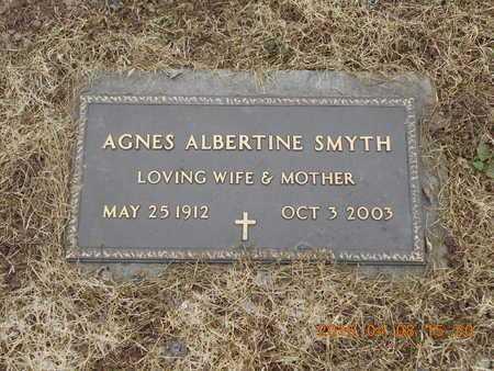SMYTH, AGNES ALBERTINE - Marquette County, Michigan | AGNES ALBERTINE SMYTH - Michigan Gravestone Photos