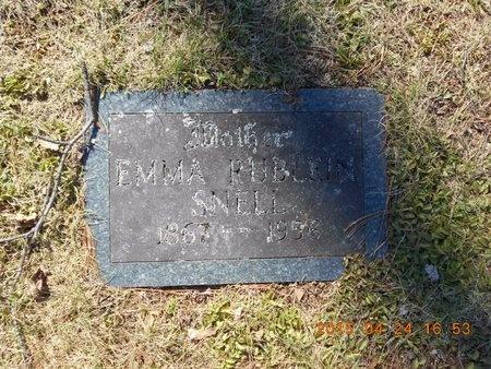 RUBLEIN SNELL, EMMA - Marquette County, Michigan   EMMA RUBLEIN SNELL - Michigan Gravestone Photos