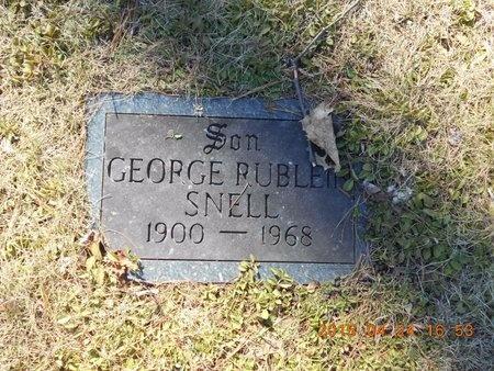 SNELL, GEORGE RUBLEIN - Marquette County, Michigan | GEORGE RUBLEIN SNELL - Michigan Gravestone Photos