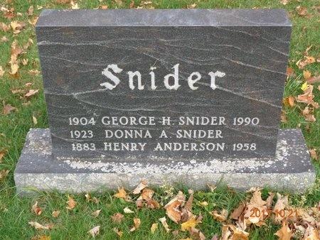 ANDERSON, HENRY - Marquette County, Michigan   HENRY ANDERSON - Michigan Gravestone Photos