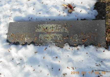 SNYDER, FAMILY - Marquette County, Michigan | FAMILY SNYDER - Michigan Gravestone Photos