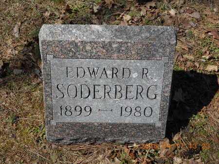 SODERBERG, EDWARD R. - Marquette County, Michigan   EDWARD R. SODERBERG - Michigan Gravestone Photos