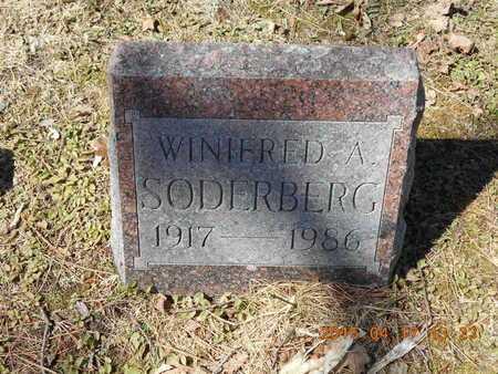 SODERBERG, WINIFRED A. - Marquette County, Michigan | WINIFRED A. SODERBERG - Michigan Gravestone Photos