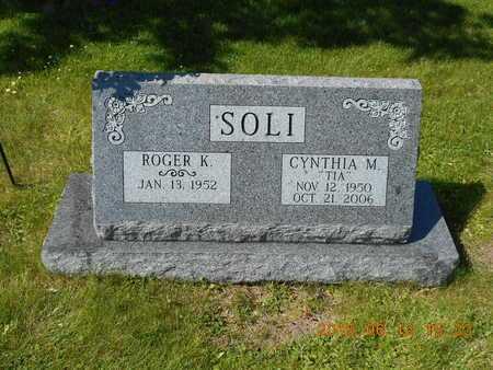 SOLI, CYNTHIA M. - Marquette County, Michigan   CYNTHIA M. SOLI - Michigan Gravestone Photos
