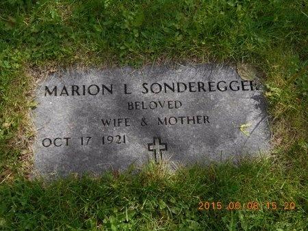 SONDEREGGER, MARION L. - Marquette County, Michigan   MARION L. SONDEREGGER - Michigan Gravestone Photos