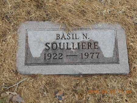 SOULLIERE, BASIL N. - Marquette County, Michigan | BASIL N. SOULLIERE - Michigan Gravestone Photos