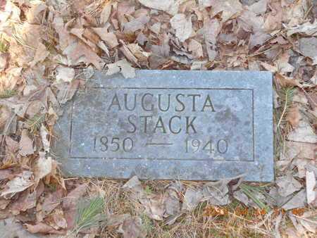 STACK, AUGUSTA - Marquette County, Michigan   AUGUSTA STACK - Michigan Gravestone Photos
