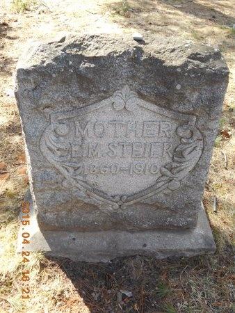 STEIER, E.M. - Marquette County, Michigan | E.M. STEIER - Michigan Gravestone Photos
