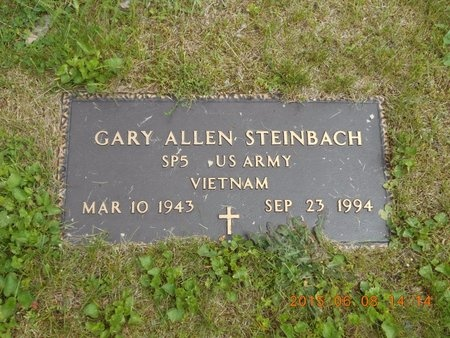 STEINBACH, GARY ALLAN - Marquette County, Michigan | GARY ALLAN STEINBACH - Michigan Gravestone Photos