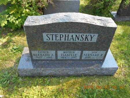 STEPHANSKY, BERNARD A. - Marquette County, Michigan | BERNARD A. STEPHANSKY - Michigan Gravestone Photos