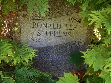 STEPHENS, RONALD LEE - Marquette County, Michigan   RONALD LEE STEPHENS - Michigan Gravestone Photos