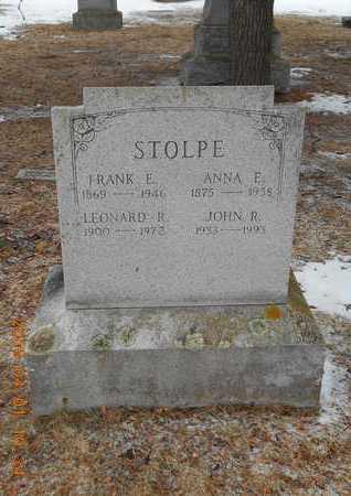 STOLPE, ANNA E. - Marquette County, Michigan | ANNA E. STOLPE - Michigan Gravestone Photos
