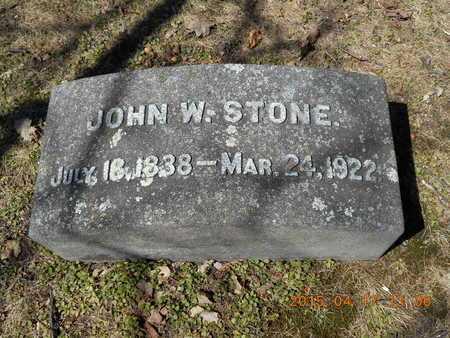 STONE, JOHN W. - Marquette County, Michigan   JOHN W. STONE - Michigan Gravestone Photos