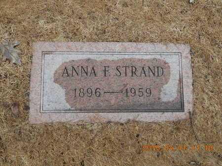 STRAND, ANNA F. - Marquette County, Michigan   ANNA F. STRAND - Michigan Gravestone Photos