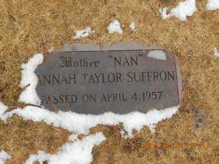 TAYLOR SUFFRON, HANNAH - Marquette County, Michigan   HANNAH TAYLOR SUFFRON - Michigan Gravestone Photos