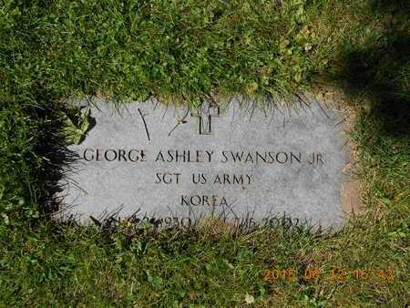 SWANSON, JR., GEORGE ASHLEY - Marquette County, Michigan | GEORGE ASHLEY SWANSON, JR. - Michigan Gravestone Photos