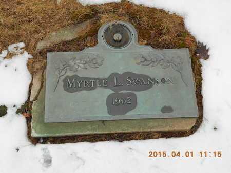 SWANSON, MYRTLE L. - Marquette County, Michigan   MYRTLE L. SWANSON - Michigan Gravestone Photos