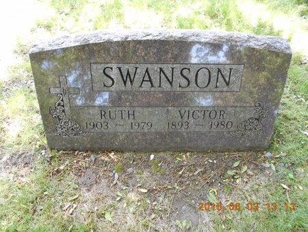 SWANSON, VICTOR - Marquette County, Michigan | VICTOR SWANSON - Michigan Gravestone Photos