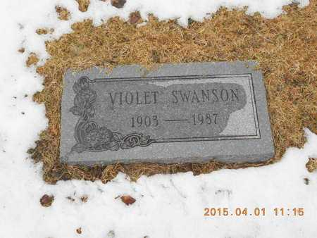 SWANSON, VIOLET - Marquette County, Michigan   VIOLET SWANSON - Michigan Gravestone Photos